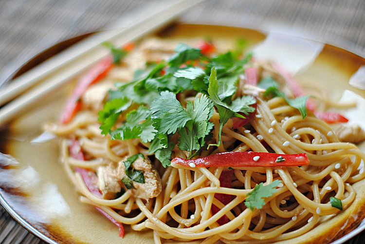 Asian Peanut Noodles with ChickenEat Yourself Skinny