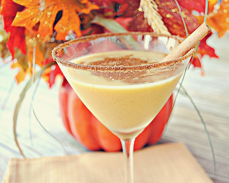 Spiced Pumpkin Martini - Eat Yourself Skinny