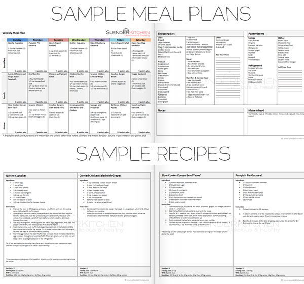 Giveaway: Weight Watcher's Friendly Meal Plans! by Eat Yourself ...