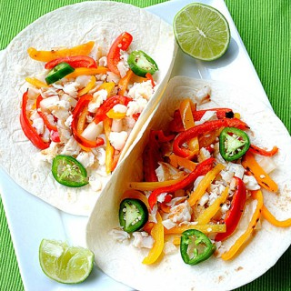 Tilapia Tacos with Peach Mango Salsa - Eat Yourself Skinny