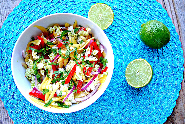 slaw with carrots cumin lemon and mint mango mint limeade mango mint ...