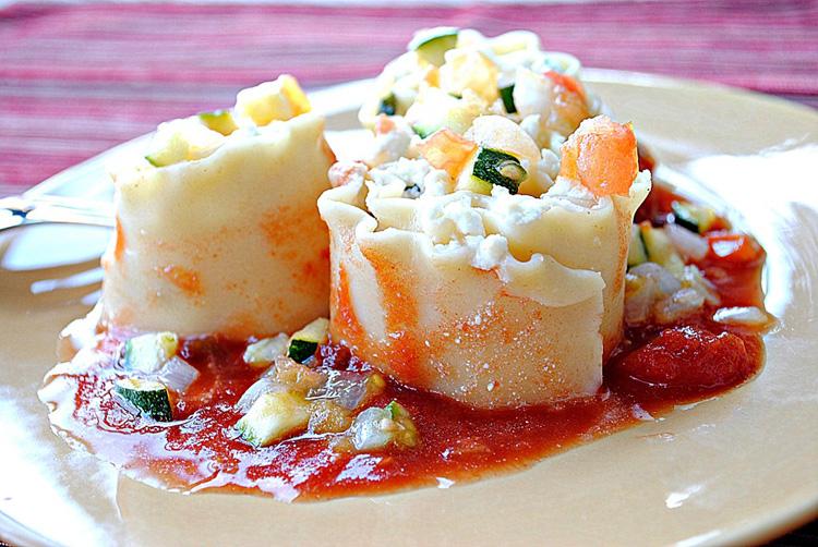 Three-Cheese Lasagna Roll-Ups - Eat Yourself Skinny