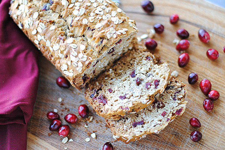 Cranberry Oat and Honey Bread - Eat Yourself Skinny
