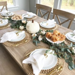 Another view of this weekends brunch tablescape Tis the season!