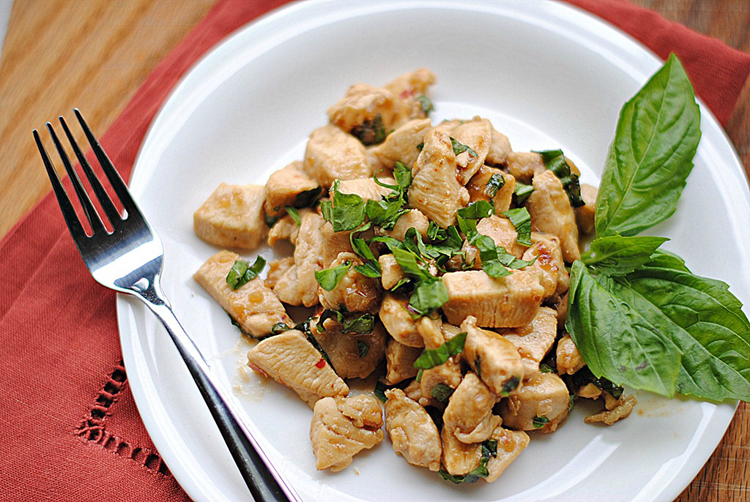 Spicy Basil Chicken - Eat Yourself Skinny