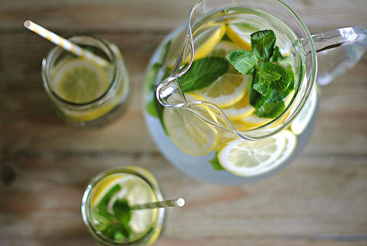 Image result for lemon-cucumber water