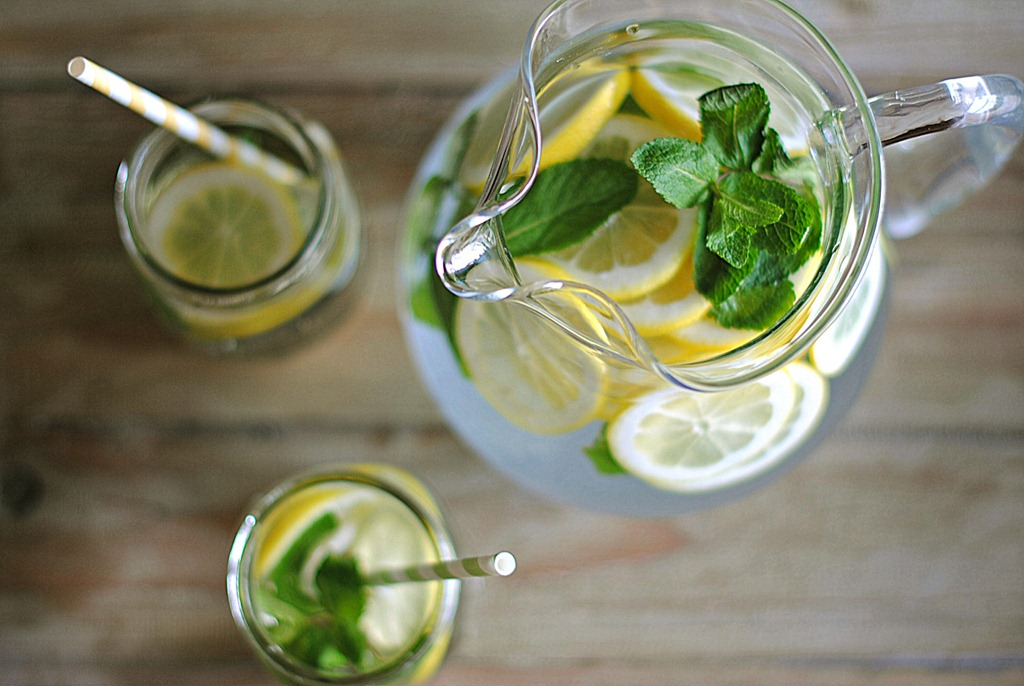 Lemon Water with Fresh Mint - Eat Yourself Skinny