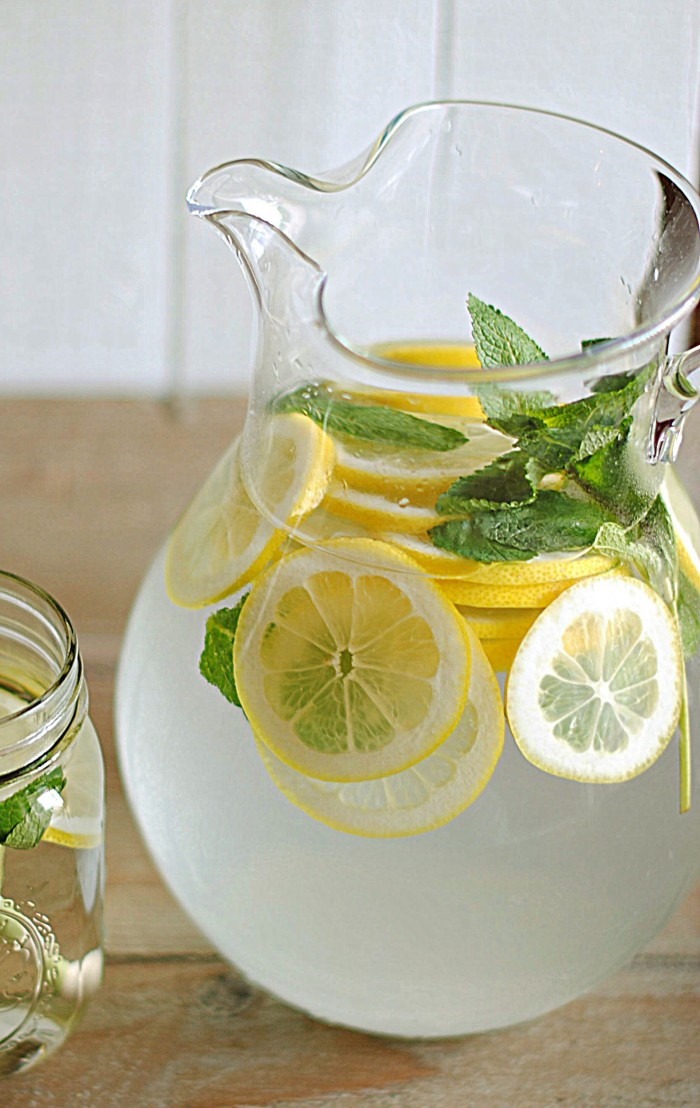 Lemon Water with Fresh Mint