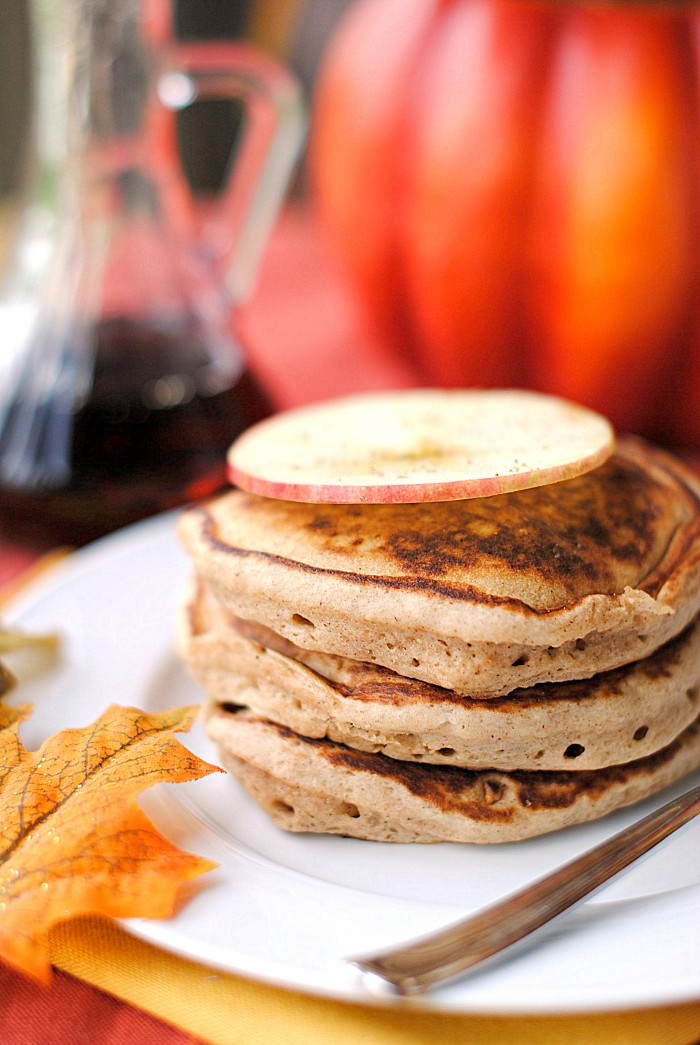 Gingerbread Apple Pancakes - Eat Yourself Skinny