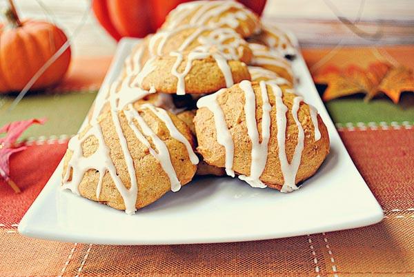 Iced Pumpkin Cookies - Eat Yourself Skinny
