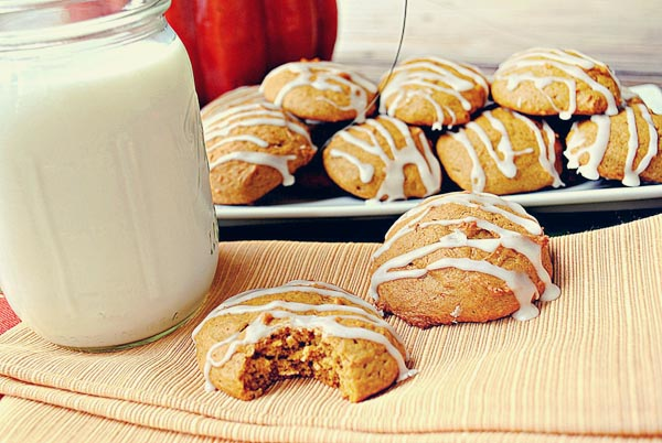 Iced Pumpkin Cookies - Eat Yourself Skinny