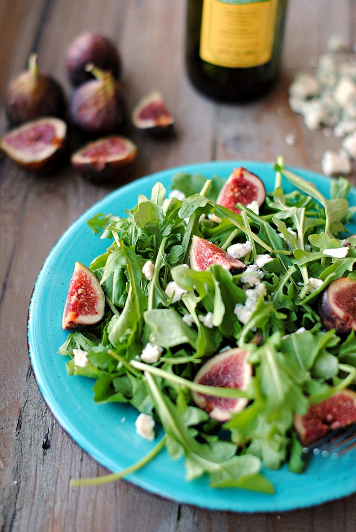 Arugula Fig Blue Cheese Salad Eat Yourself Skinny