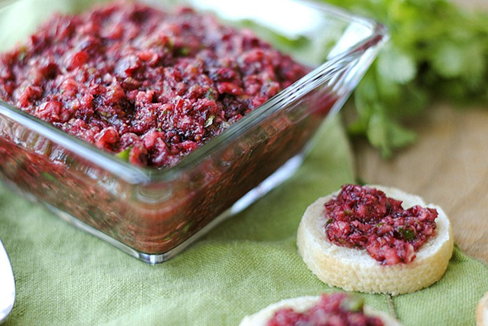 This sweet and spicy Cranberry Salsa makes the perfect holiday appetizer that is gluten-free, dairy-free, vegan and can be easily made in just minutes!