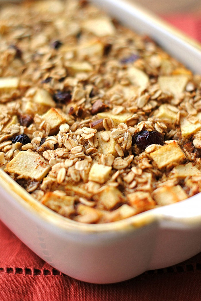 Apple Cinnamon Baked Oatmeal Eat Yourself Skinny