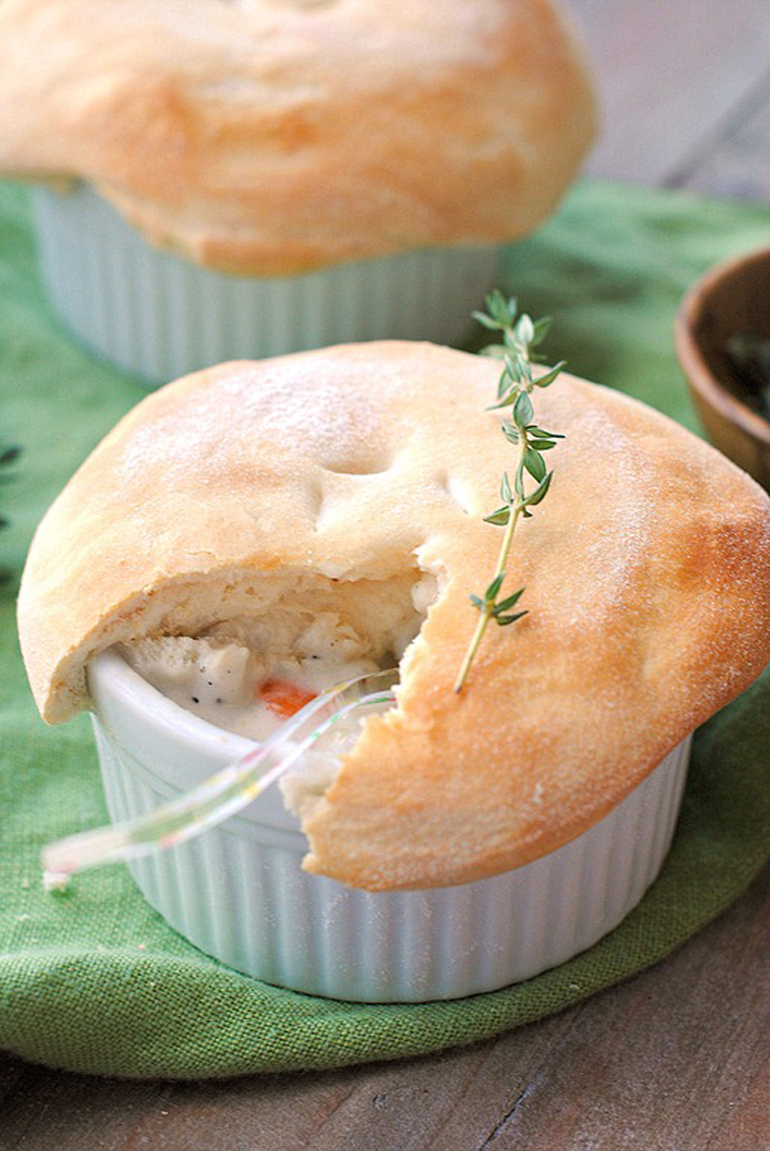 Eat Yourself Skinny » Skinny Chicken Pot Pies