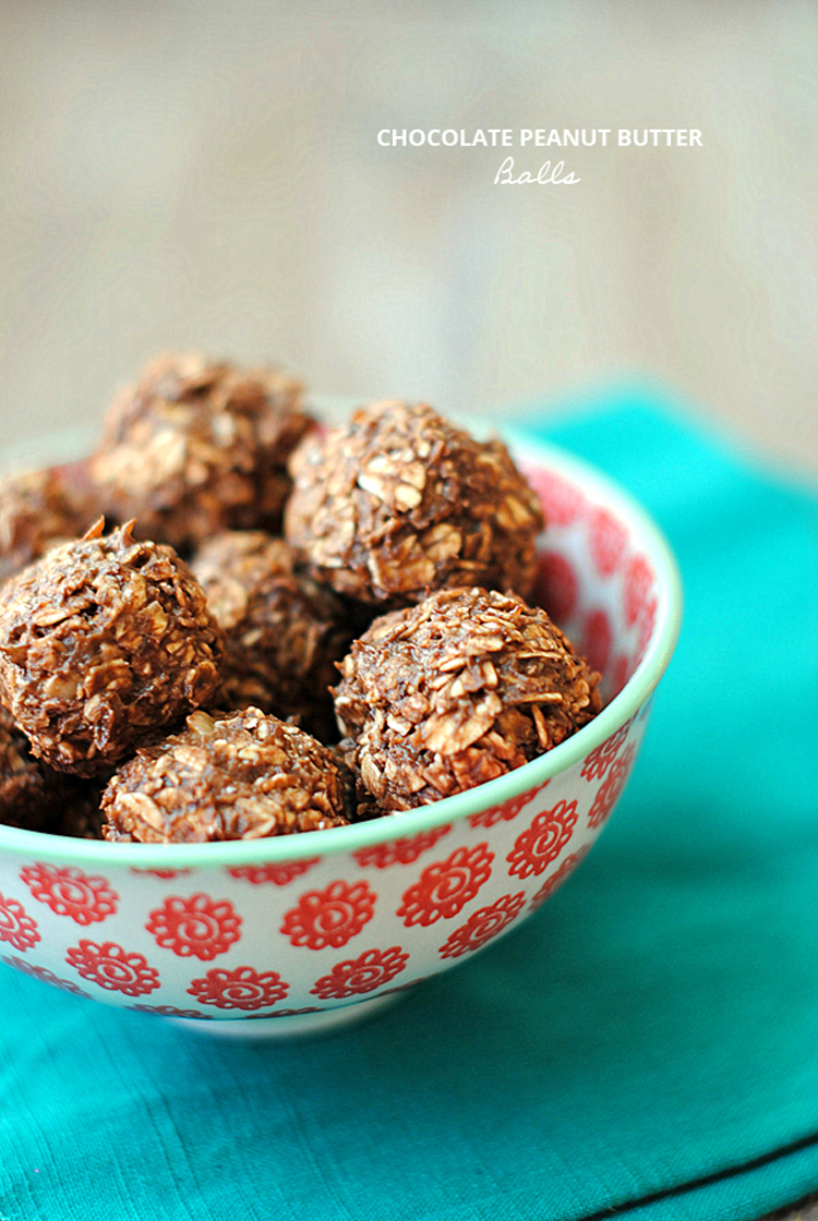 Chocolate Peanut Butter Balls - Eat Yourself Skinny
