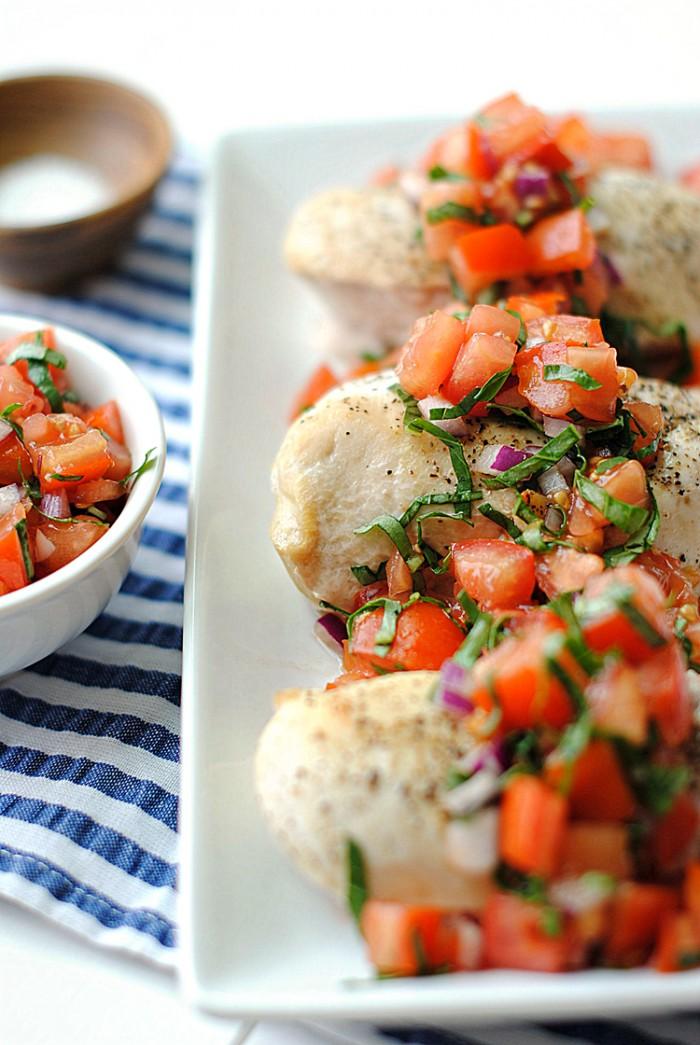 Healthy Bruschetta Chicken - Eat Yourself Skinny
