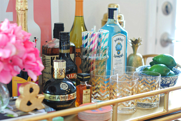 i know how to photograph food but everything else iu0027m terrible at haha but anyways the cart is still a bit empty as i need to add - How To Style A Bar Cart