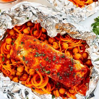 You guys THIS! Sharing these delicious Moroccan Salmon Foil Packetshellip