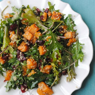 Roasted Sweet Potato and Kale Salad | Eat Yourself Skinny