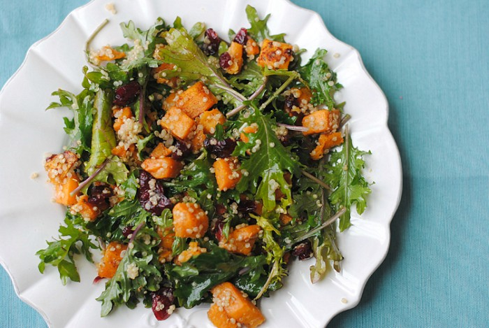 Roasted Sweet Potato and Kale Salad | Eat Yourself Skinny