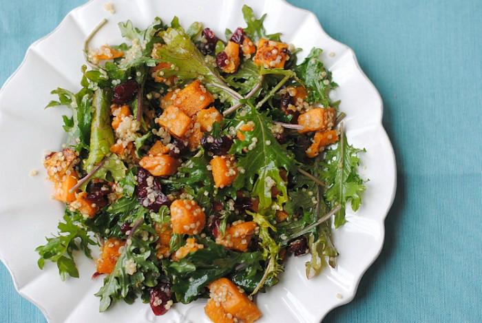 Roasted Sweet Potato and Kale Salad   Eat Yourself Skinny