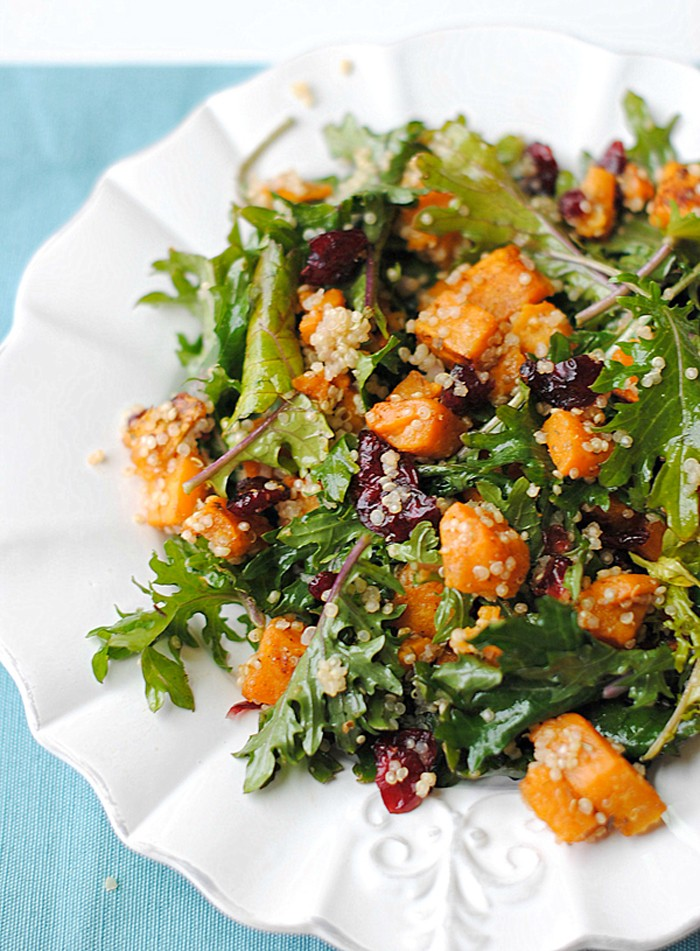 Roasted Sweet Potato, Quinoa and Kale Salad - Eat Yourself Skinny