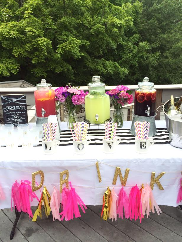 throwing a summer engagement party eat yourself skinny