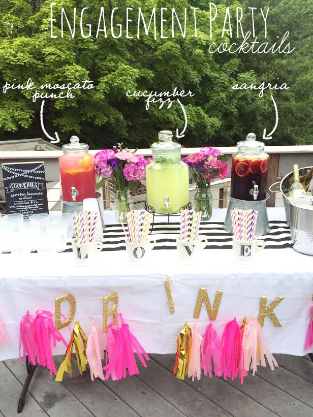cocktail engagement party ideas