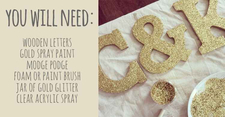 Diy How To Make Glitter Letters