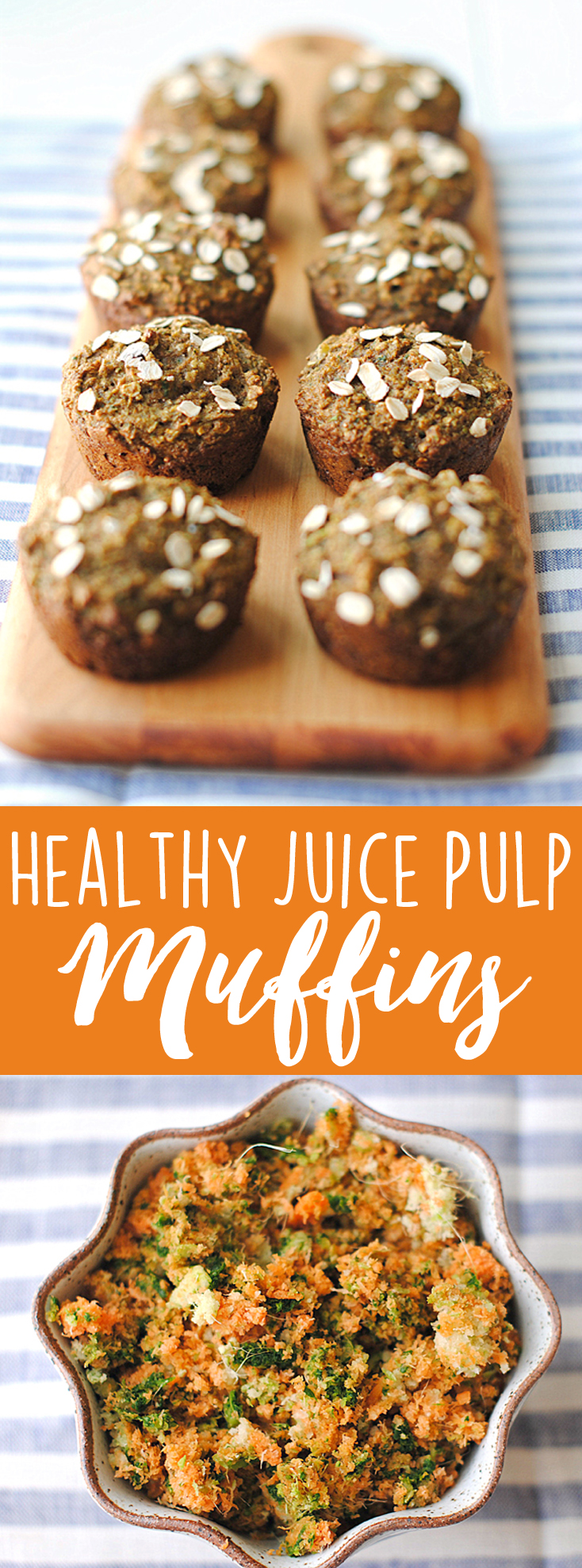 Use all that delicious leftover pulp in these Healthy Juice Pulp Muffins! | Eat Yourself Skinny