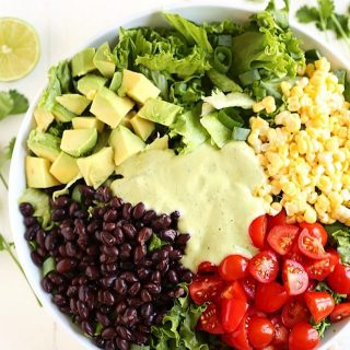 Sharing this Southwestern Salad with Creamy Avocado Dressing on thehellip