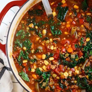 NEW RECIPE One Pot Sausage and Kale Soup for thehellip