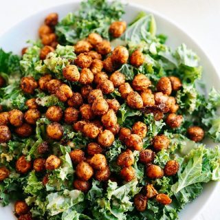 NEW RECIPE! This Roasted Chickpea and Kale Salad makes ithellip