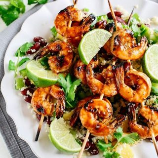You guys these Caribbean Jerk Shrimp Skewers with Cauliflower Ricehellip