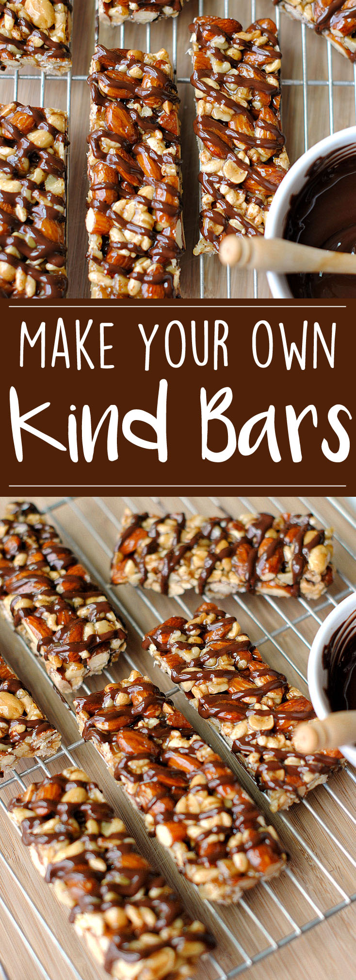 Now you can make your OWN delicious Dark Chocolate and Sea Salt KIND Bars at home that are healthier and much tastier with zero baking required!