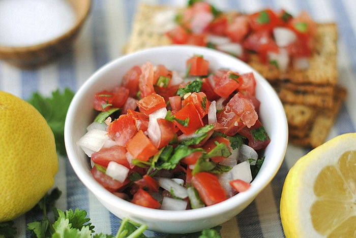 Fresh and delicious homemade Pico de Gallo with a hint of spice and a touch of lemon zest!