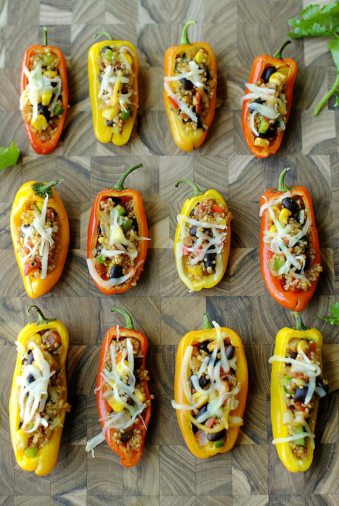 Quinoa Mini Stuffed Peppers | Eat Yourself Skinny