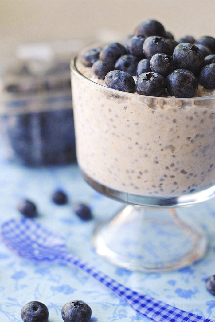 Blueberry Muffin Overnight Oats | Eat Yourself Skinny