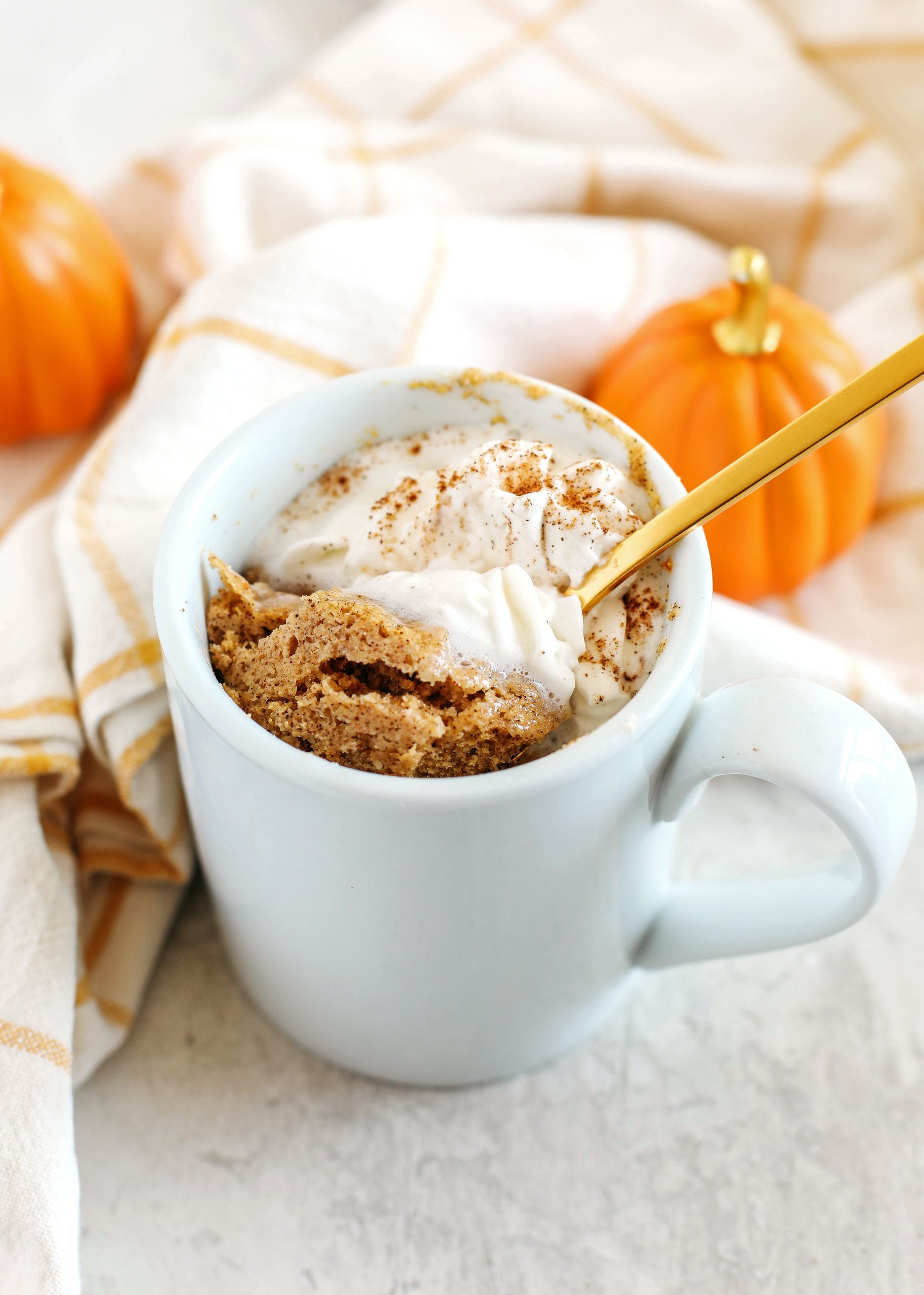 Pumpkin Spice Mug Cake Eat Yourself Skinny