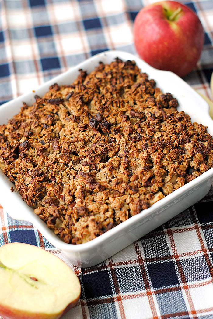 Apple Cider Oatmeal Crisp | Eat Yourself Skinny