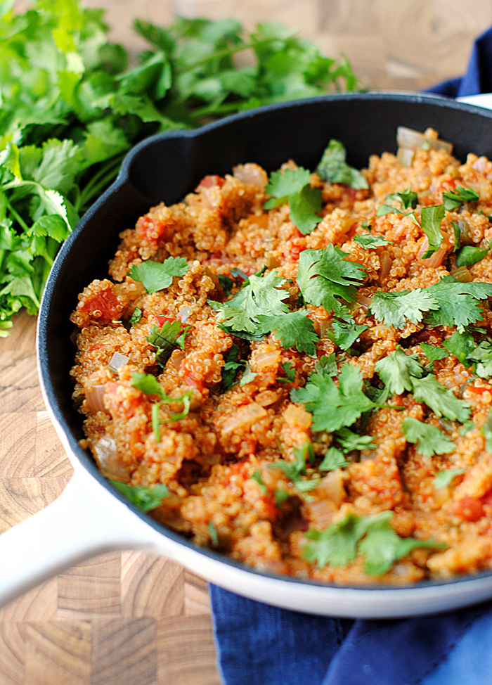 Skillet Spanish Quinoa | Eat Yourself Skinny