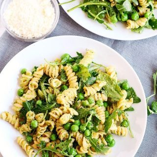 Bring this EASY 5 Minute Pea and Arugula Pesto Pastahellip