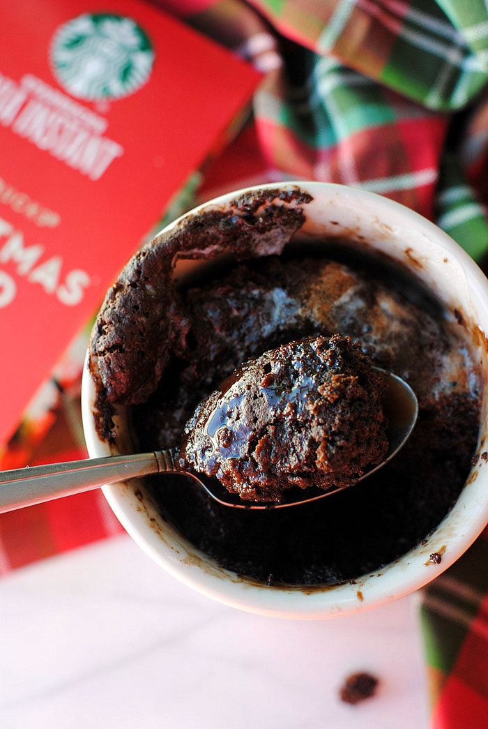 Skinny} Eggnog Mocha Mug Cake | Eat Yourself Skinny