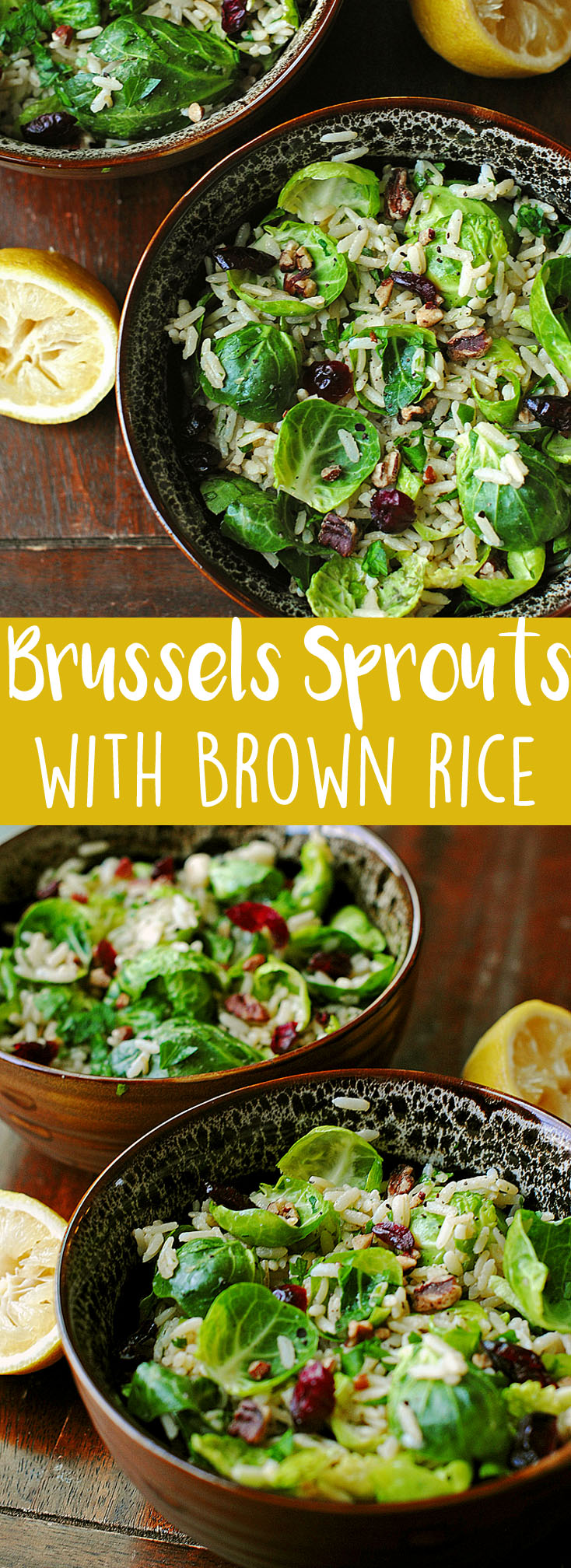 Brussels Sprouts with Lemon and Brown Rice   Eat Yourself Skinny