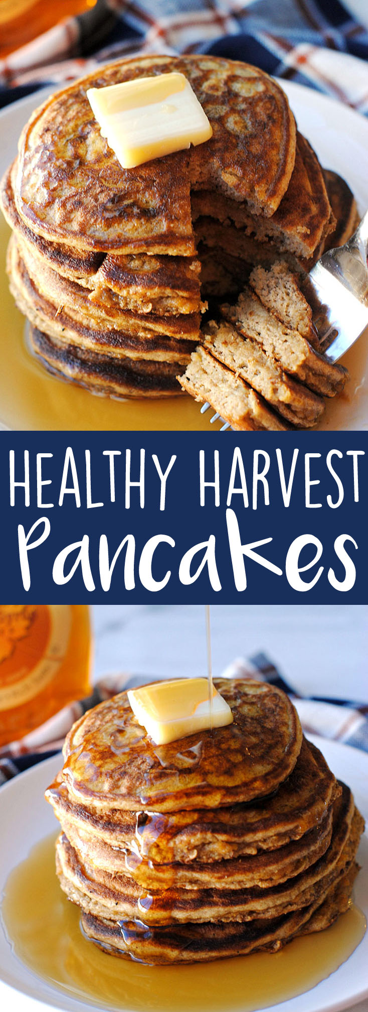 Healthy Harvest Pancakes - made with only eggs, banana and a little almond flour! | Eat Yourself Skinny