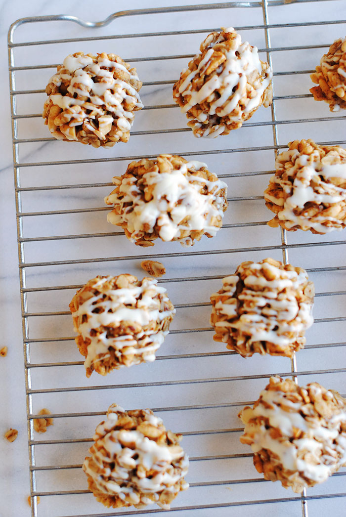 No Bake Apple Peanut Butter Cookies | Eat Yourself Skinny