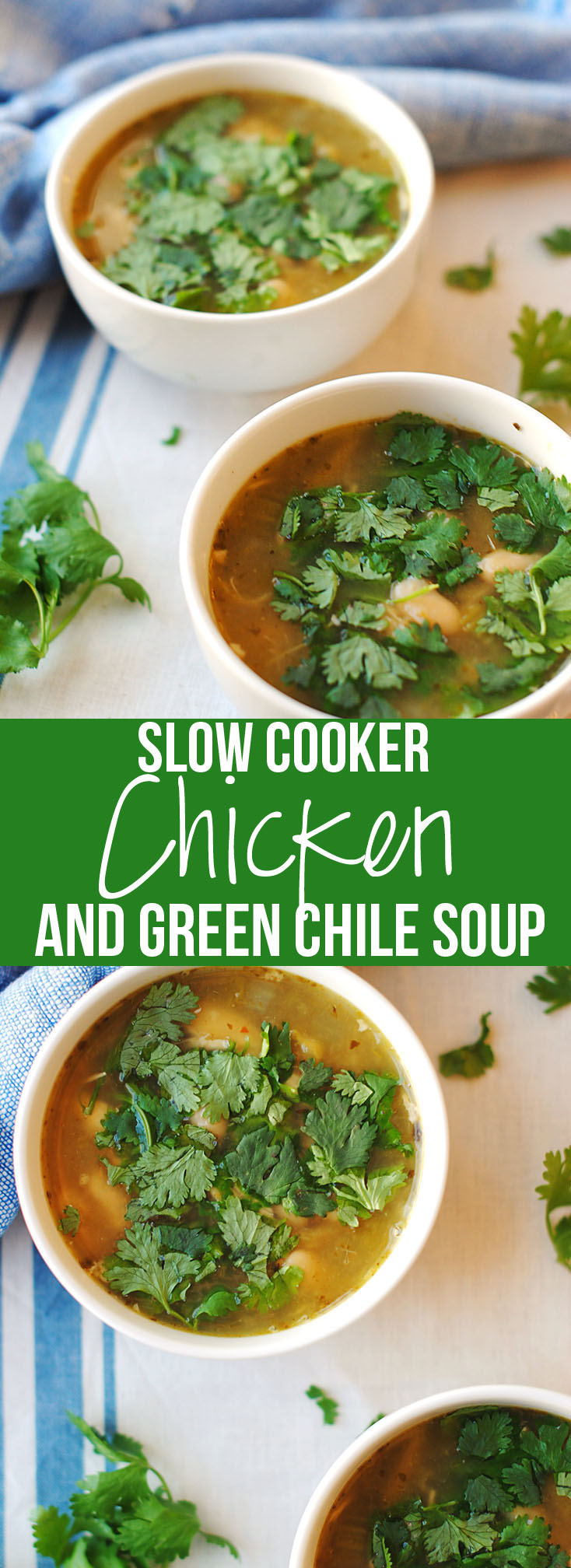 Slow Cooker Chicken and Green Chile Soup   Eat Yourself Skinny