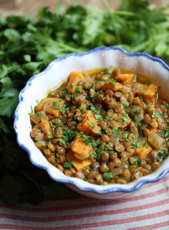 Lentil And Sweet Potato Stew Eat Yourself Skinny