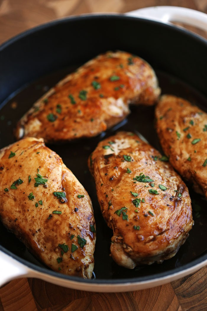 Maple Balsamic and Herb Chicken - Eat Yourself Skinny